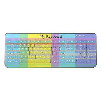 Pastel Plaid Wireless Keyboard