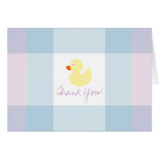 Pastel Plaids-Yellow Rubber Duck Card