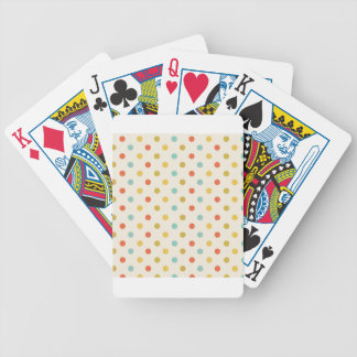 Pastel polka-dots bicycle playing cards