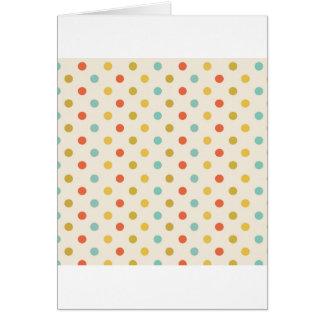 Pastel polka-dots card