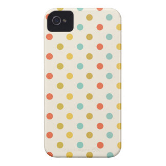 Pastel polka-dots Case-Mate iPhone 4 case