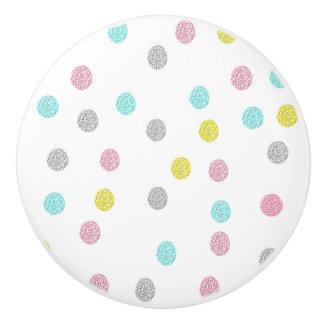 Pastel Polka Dots Ceramic Knob