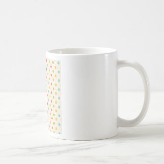 Pastel polka-dots coffee mug