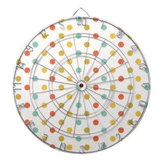 Pastel polka-dots dartboard