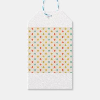 Pastel polka-dots gift tags