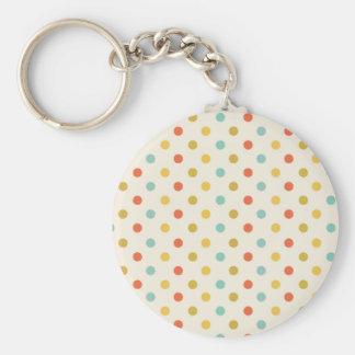 Pastel polka-dots keychain