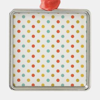 Pastel polka-dots metal ornament
