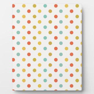 Pastel polka-dots plaque