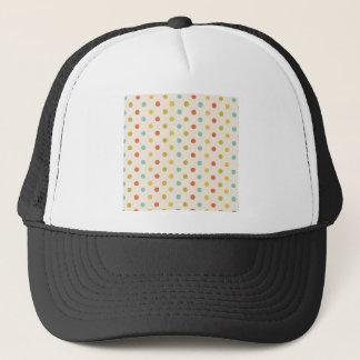 Pastel polka-dots trucker hat