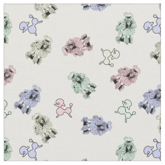 Pastel Poodles Fabric