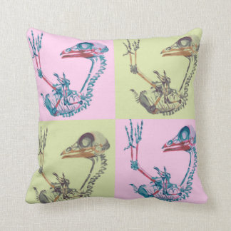 Pastel pop art chick x-ray cushion cover