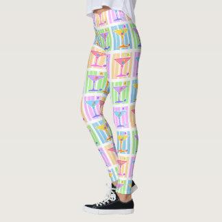PASTEL POP ART MARTINIS LEGGINGS