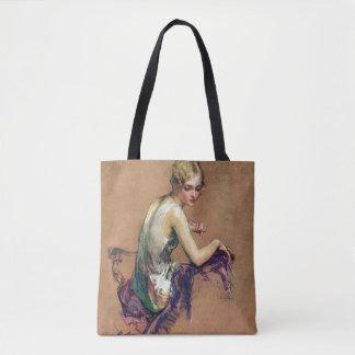 Pastel Portrait Tote Bag