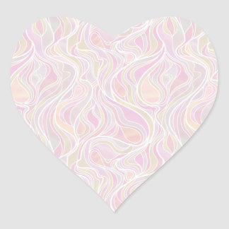 Pastel Psychedelic Stained Glass Style Heart Sticker