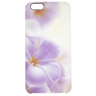 Pastel Purple And White Dreamy Floral Design Clear iPhone 6 Plus Case