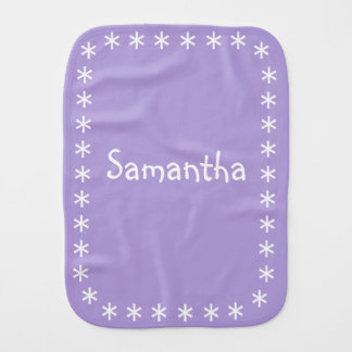 Pastel Purple Burp Cloth for Baby with Name