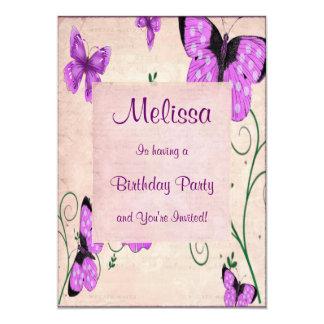Pastel Purple Butterflies Card