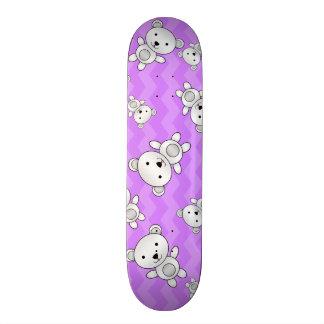 Pastel purple chevrons polar bears skateboards