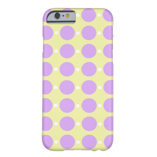 Pastel Purple Dots on Yellow Barely There iPhone 6 Case