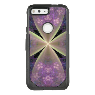 Pastel Purple Floral Cross of Christ OtterBox Commuter Google Pixel Case