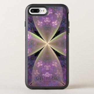 Pastel Purple Floral Cross of Christ OtterBox Symmetry iPhone 8 Plus/7 Plus Case
