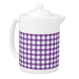 Pastel Purple Gingham Check Pattern