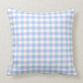 Pastel Purple Gingham Throw Pillow