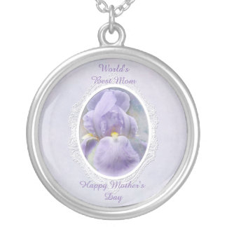 Pastel Purple Iris Mother's Day Necklace