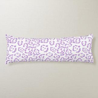 Pastel Purple Leopard Kawaii Animal Print Body Pillow