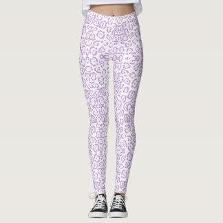 Pastel Purple Leopard Kawaii Animal Print Leggings