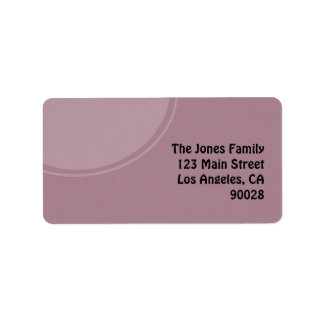 pastel purple mod circle label