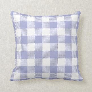 Pastel Purple / Periwinkle Plaid Pattern Throw Pillow
