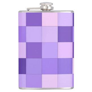 Pastel purple squares flasks