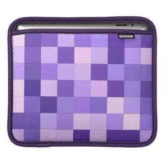 Pastel purple squares iPad sleeves