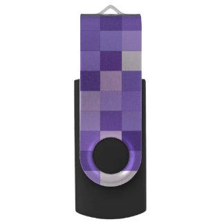Pastel purple squares swivel USB 3.0 flash drive