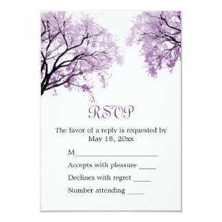 Pastel Purple Trees - RSVP Card Announcements