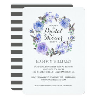 Pastel Purple Watercolor Floral | Bridal Shower Card