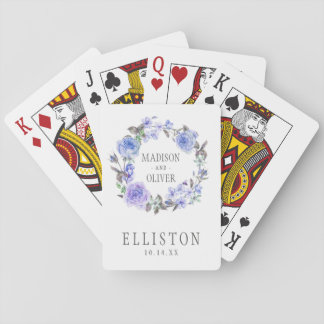 Pastel Purple Watercolor Floral   Wedding Playing Cards