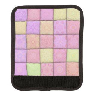 pastel quilt 1(I) Luggage Handle Wrap