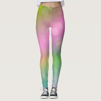 Pastel rainbow art leggings