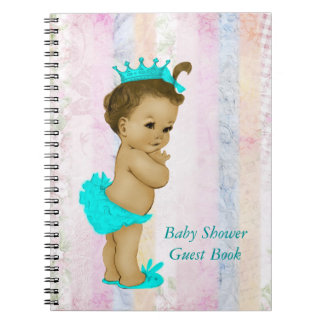 Pastel Rainbow Baby Shower Guest Book Notebook