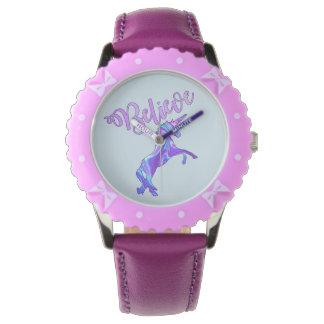 Pastel Rainbow Believe Unicorn Watch
