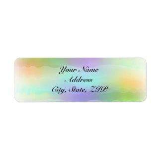 Pastel Rainbow Brides Return Address Return Address Label