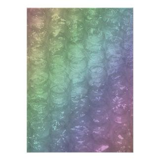 Pastel Rainbow Bubble Wrap Effect Personalized Invites