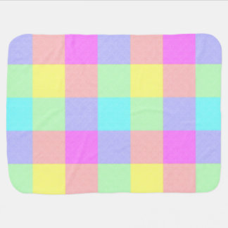 Pastel Rainbow Checkered Baby Blanket