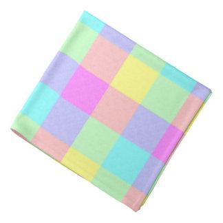 Pastel Rainbow Checkered Bandanas