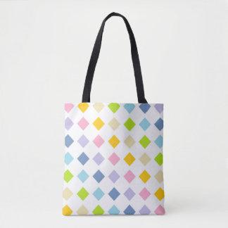 Pastel Rainbow Diamonds Tote Bag
