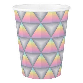 Pastel Rainbow Geometric Triangles Paper Cups