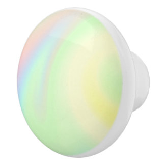 Pastel Rainbow of Color Ceramic Knob