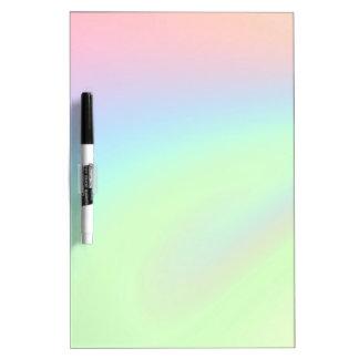 Pastel Rainbow of Color Dry Erase Board
